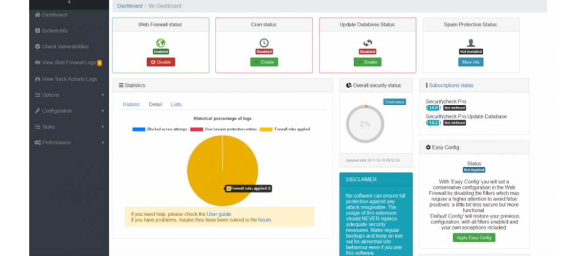 Securitycheck Pro, by Texpaok - Joomla Extension Directory
