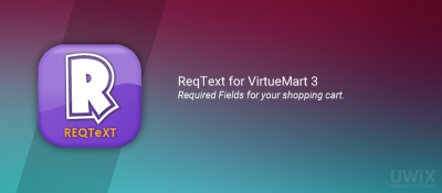 ReqText for VirtueMart