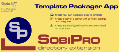 Template Packager Application for SobiPro