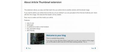 Article thumbnail button