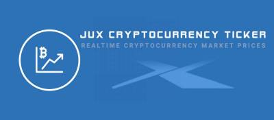 JUX Cryptocurrency Ticker
