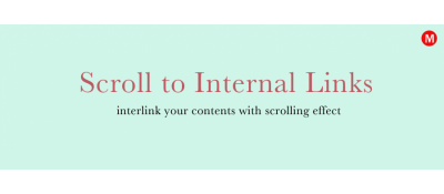 Scroll to Internal Links