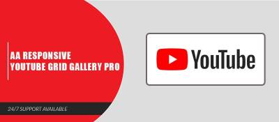 AA Responsive Youtube Grid Gallery Pro