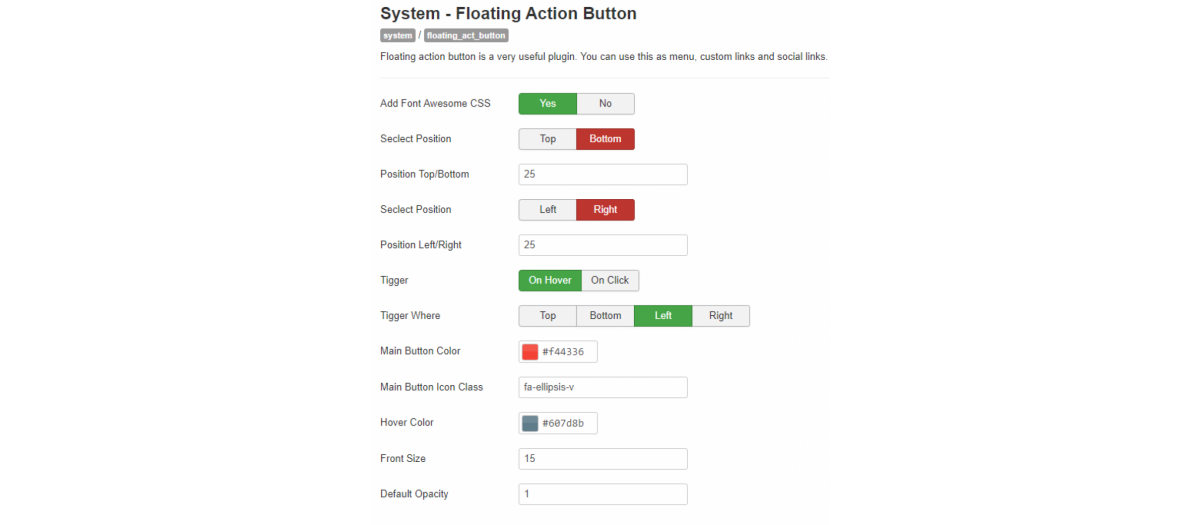 Floating Action Buttons, by JoomXone - Joomla Extension Directory