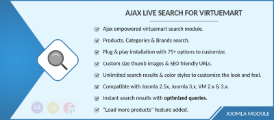 Ajax Live Search for Virtuemart