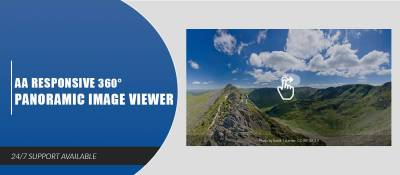 AA Flat 360° Panoramic Image Viewer