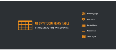 UT Cryptocurrency Table