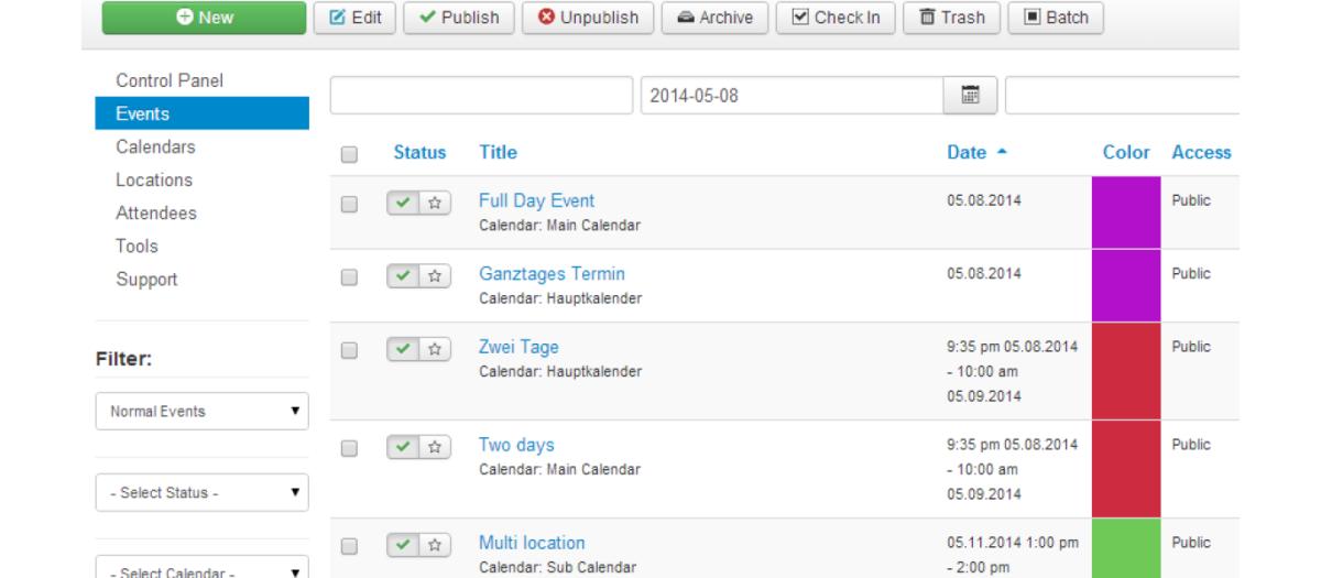 DPCalendar, by Digital Peak - Joomla Extension Directory