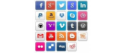 25 Simple Social Icons