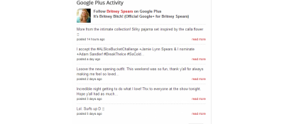 Google Plus Activity