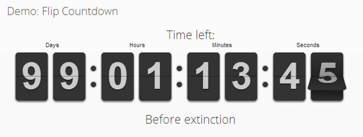 Flip Countdown, by Nordmograph - Joomla Extension Directory