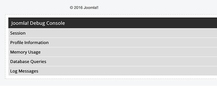 joomla debug system