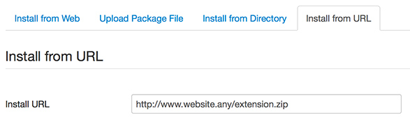 joomla extensions install from url