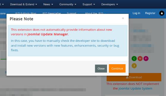 Joomla! Update System requirement